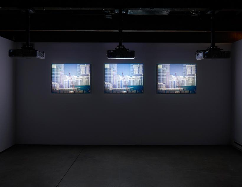 Leslie Hewitt in collaboration with Bradford Young, Stills, 2016, installation view, Collective Stance, SculptureCenter, 2016.