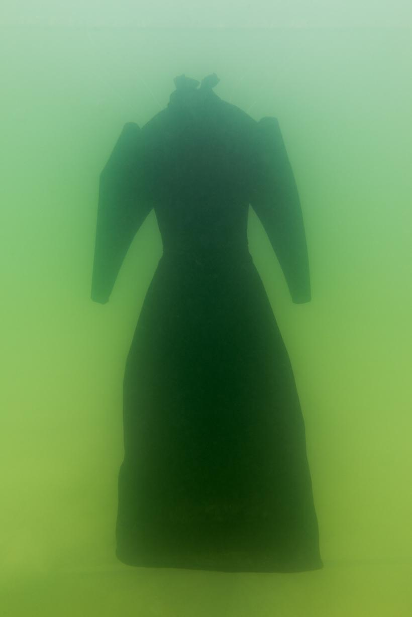 Sigalit Landau in collaboration with Yotam From, Salt Crystal Bride Gown I, 2014, Colour Print, 163 x 109 cm