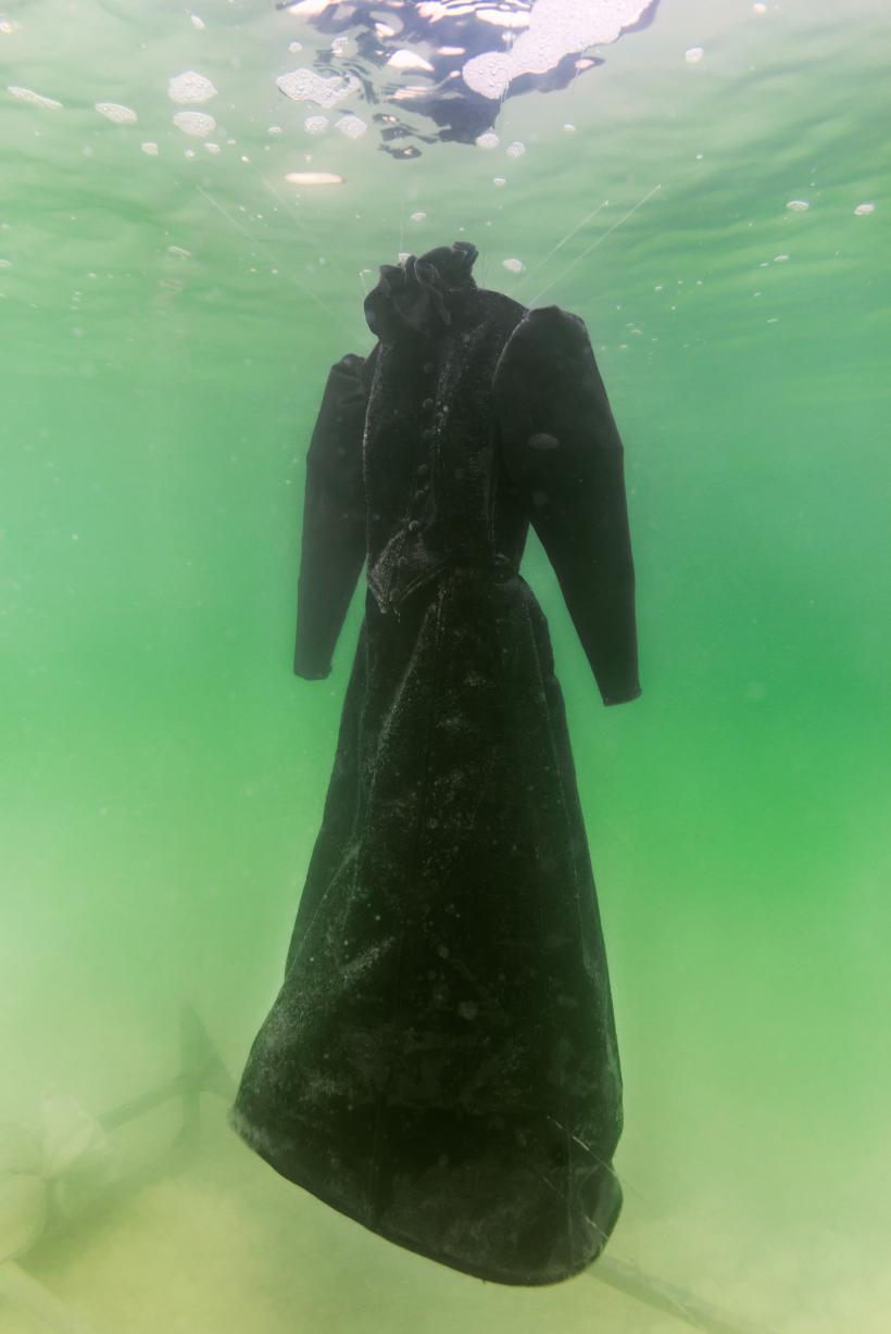 Sigalit Landau in collaboration with Yotam From, Salt Crystal Bride Gown II, 2014, Colour Print, 163 x 109 cm