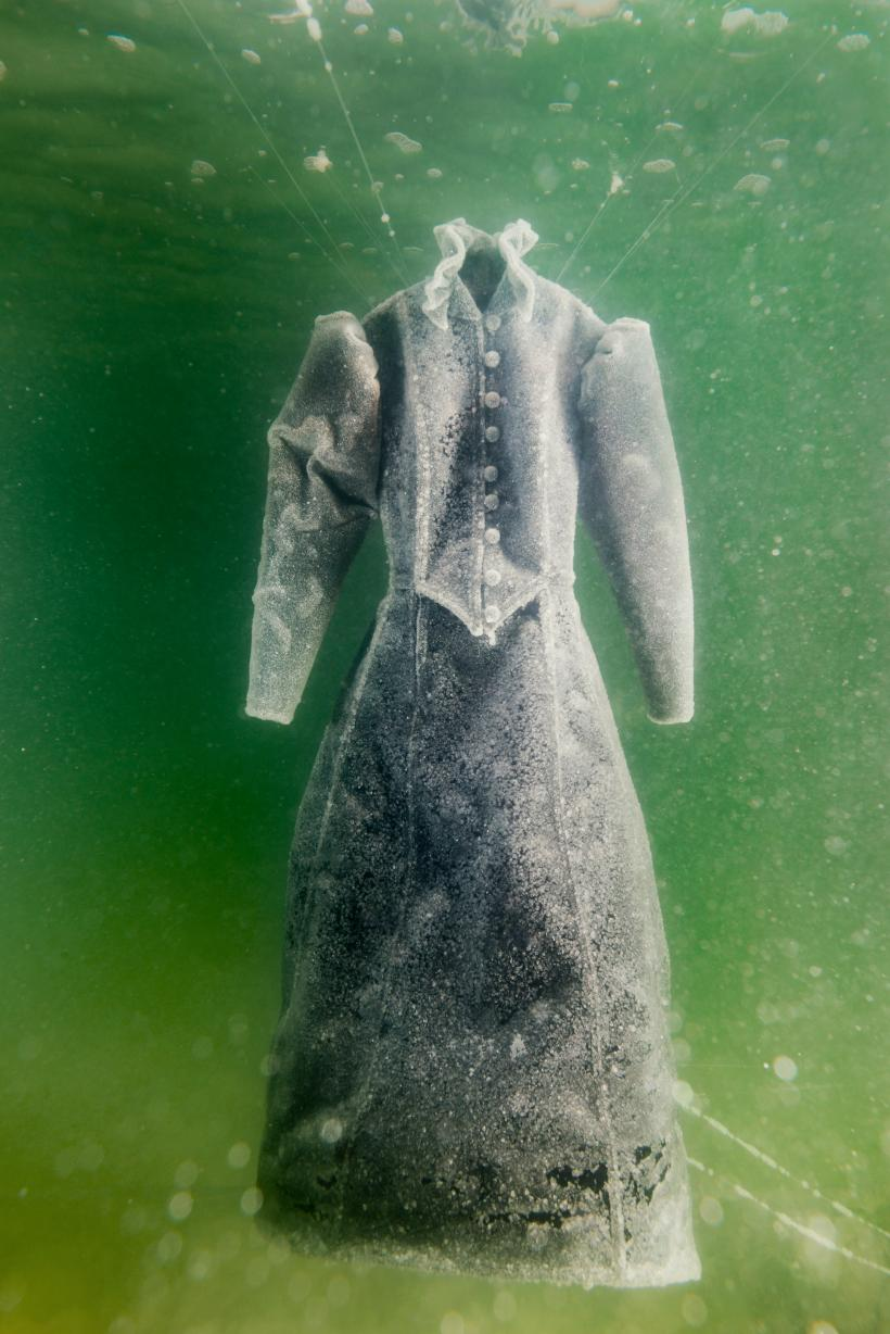 Sigalit Landau in collaboration with Yotam From, Salt Crystal Bride Gown IV, 2014, Colour Print, 163 x 109 cm