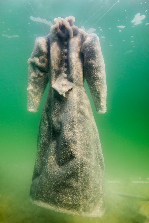 Sigalit Landau in collaboration with Yotam From, Salt Crystal Bride Gown VI, 2014, Colour Print, 163 x 109 cm,