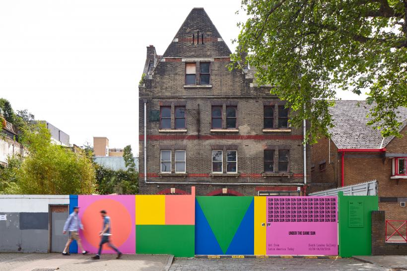 Exterior view of the former Peckham Road Fire Station for the exhibition Under the Same Sun: Art from Latin America Today, South London Gallery, June 10-September 4, 2016.