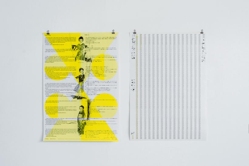 Erika Kobayashi, 2014, Half life Calendar: Radium 226 Posters, 2 colour. Double sided offset print on paper.  84.1 × 59.4 cm each