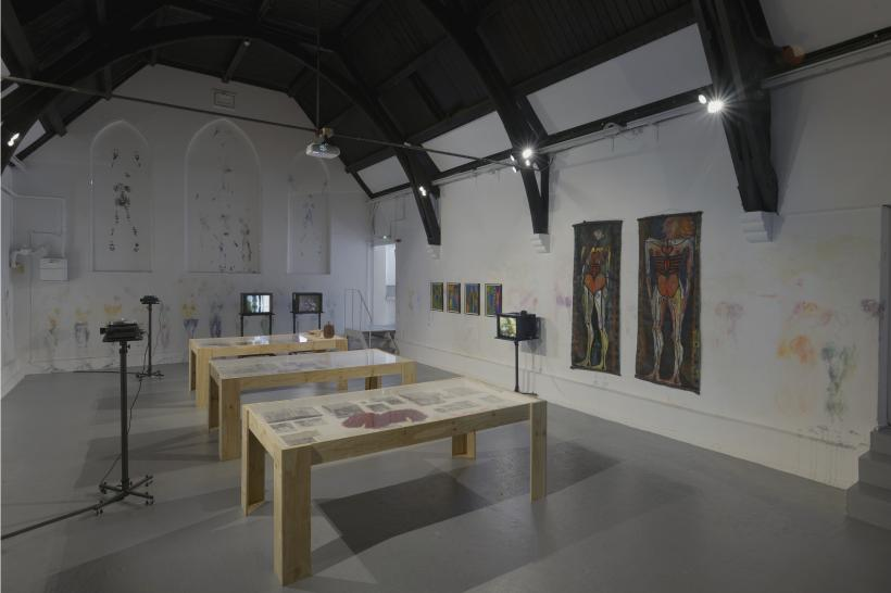 The Neo Naturists, 2016. Installation view, Studio Voltaire, London.