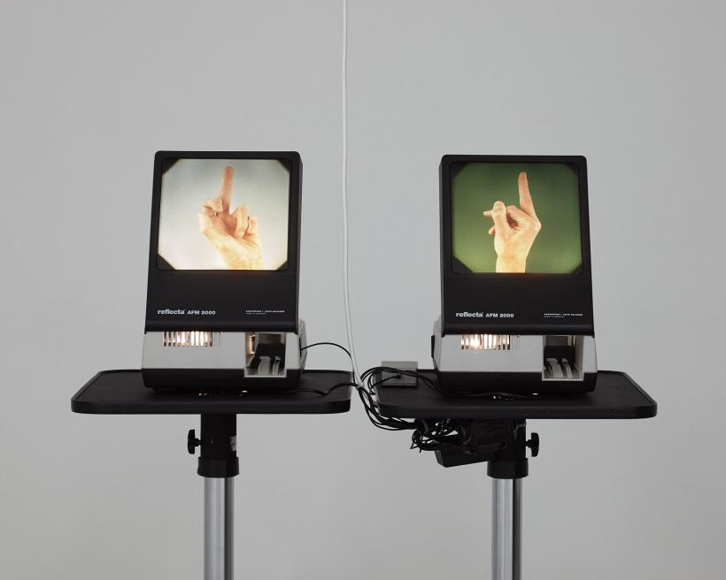 A System for Communicating with the Ghost of Sir Christopher Wren (2014) Slide projectors, Arduino, slides