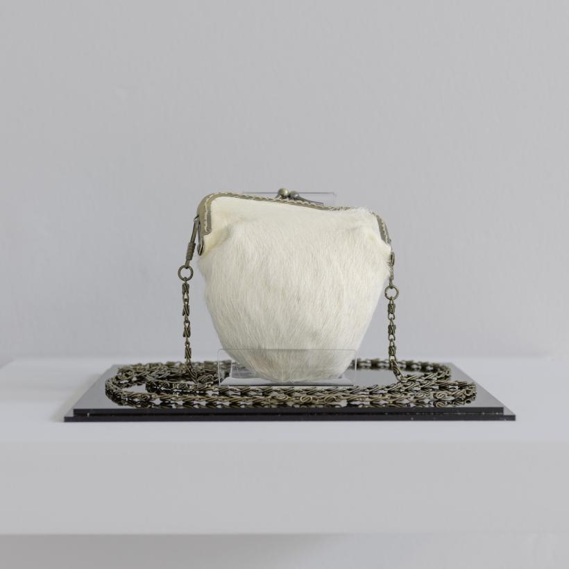 Elpida Hadzi-Vasileva, Ladies Purse 1, 2011, installed at Djanogly Gallery