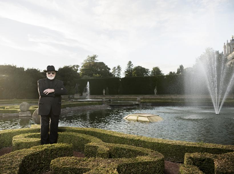 Portrait of	 Michelangelo Pistoletto at Blenheim Palace with new commission Miraggio/Mirage