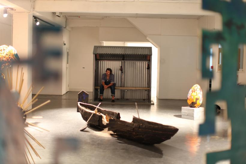 Installation view, From Myth to Earth