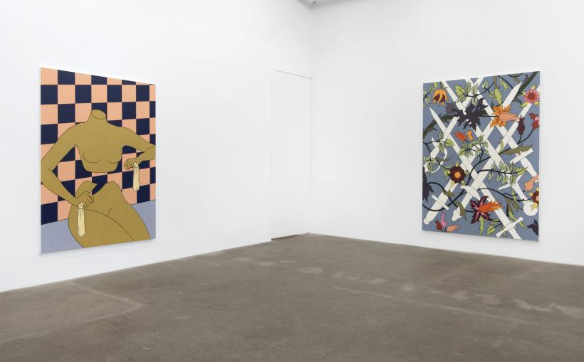 Caitlin Keogh: Loose Ankles, installation view at Bortolami, New York