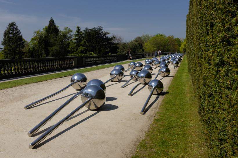 Not Vital, Let 100 Flowers Bloom, 2008. Stainless steel, c. 320cm each. Courtesy the artist and YSP. Photo © Jonty Wilde