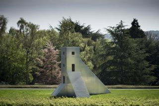 Not Vital, House to Watch the Sunset, 2005. Aluminium, 430 x 550 x 330 cm. Courtesy the artist and YSP. Photo © Jonty Wilde