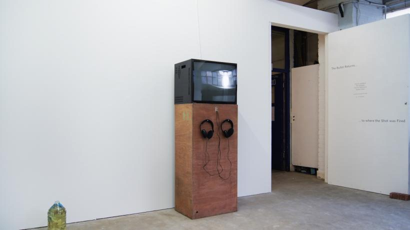 The Bullet Returns to Where the Shot was Fired, installation view at House of Egorn, London, 2016
