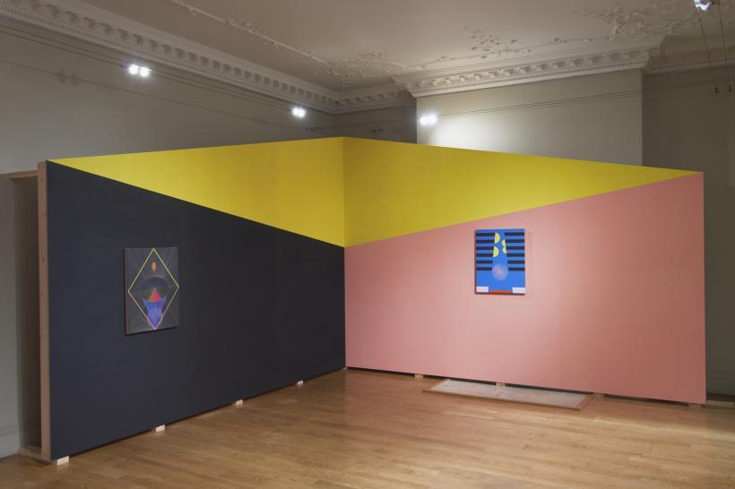 Installation view, Pas de Trois, domobaal