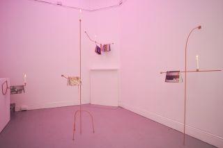 Richard Healy, Lubricants & Literature, 2016. Installation view.