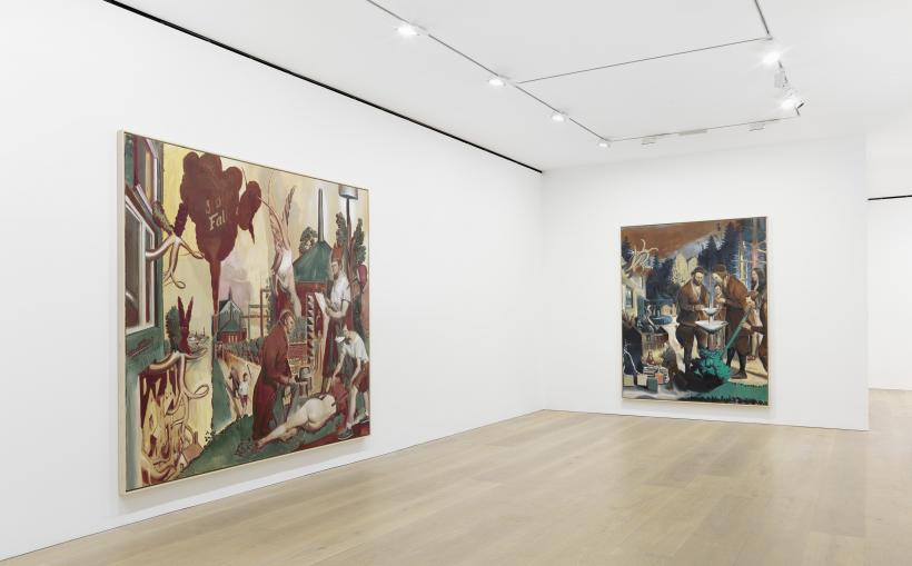 Installation view of Neo Rauch, Rondo at David Zwirner London, 5 October - 12 November 2016.