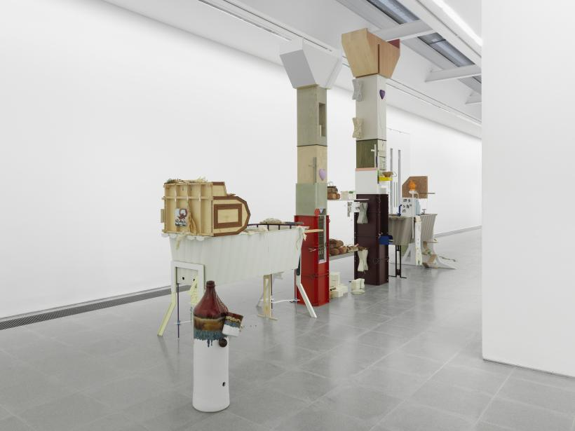 Helen Marten: Drunk Brown House, Installation View, Serpentine Sackler Gallery (29 September - 20 November 2016)