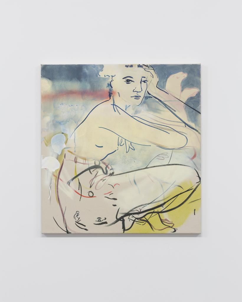 France-Lise McGurn, Hermione Hormone, 2016, gesso, oil, acrylic, spray paint and marker pen on canvas, 85 x 80 cm