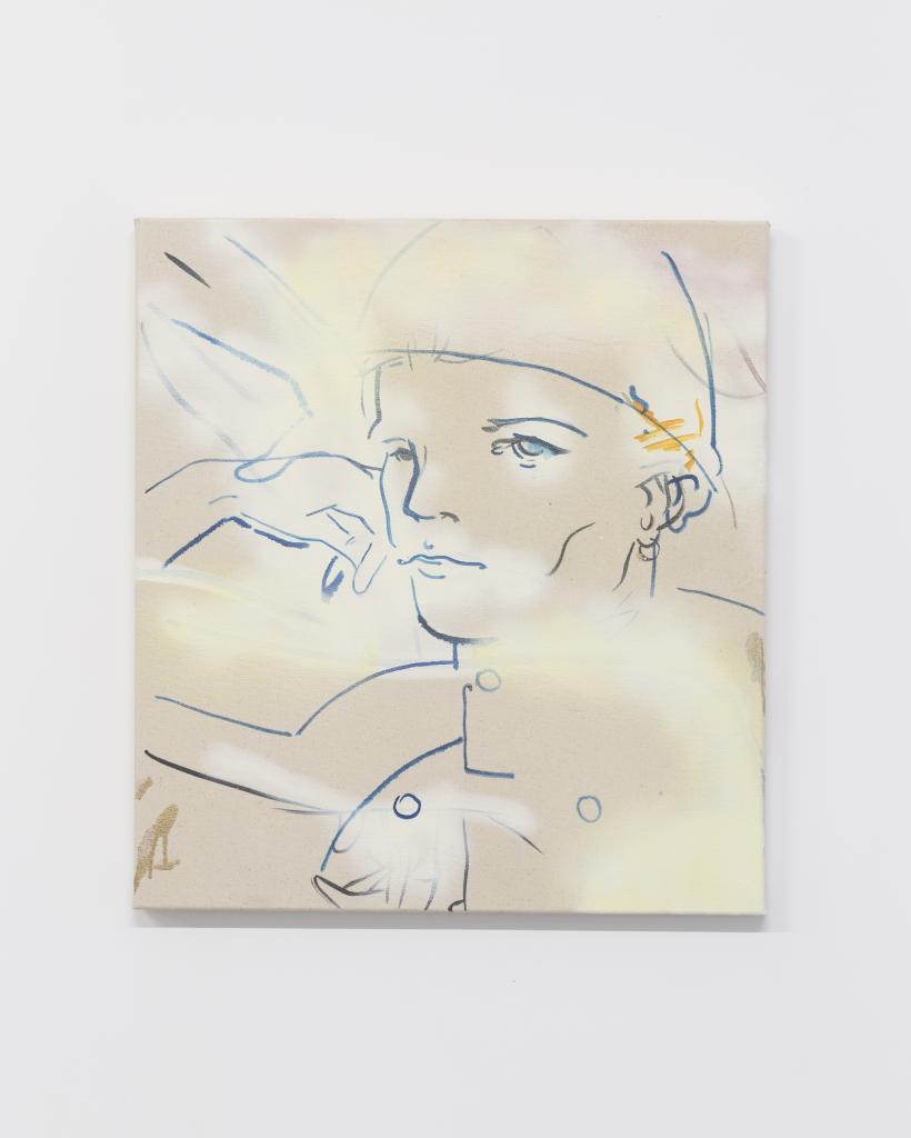 France-Lise McGurn, Privates Benjamin, 2016, oil, acrylic, spray paint on canvas, 66 x 60cm