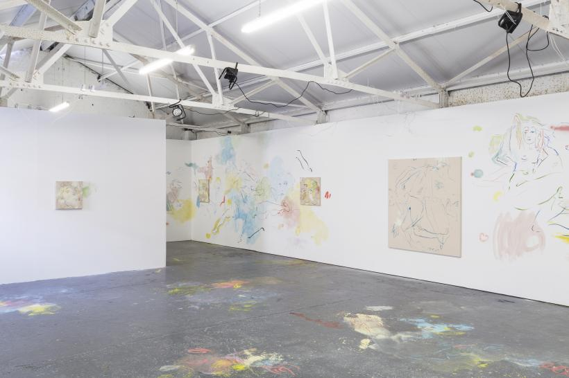 Installation view of Mondo Throb, solo exhibition by France-Lise McGurn, Bosse & Baum, 2016