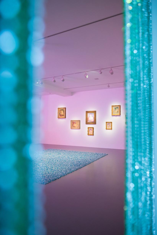 Installation view, Pierre Auguste Renoir and Felix Gonzalez-Torres, Untitled (Revenge) 1991 and Untitled (Beginning) 1994
