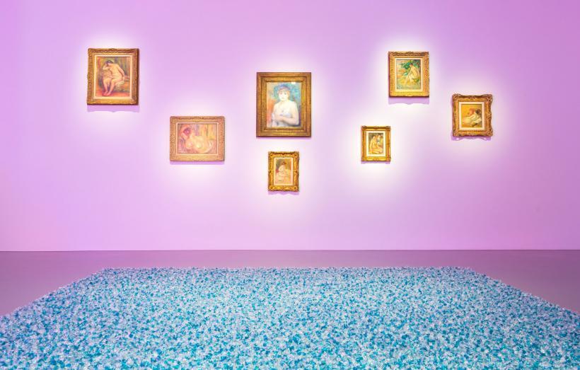 Installation view, Pierre Auguste Renoir and Felix Gonzalez-Torres, Untitled (Revenge) 1991