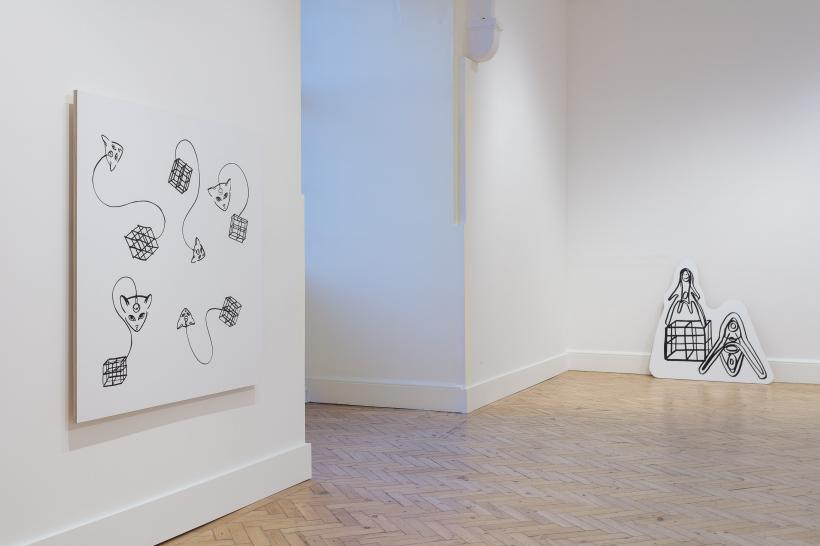 Installation view of Bonnie Camplin at Camden Arts Centre, 2016-17