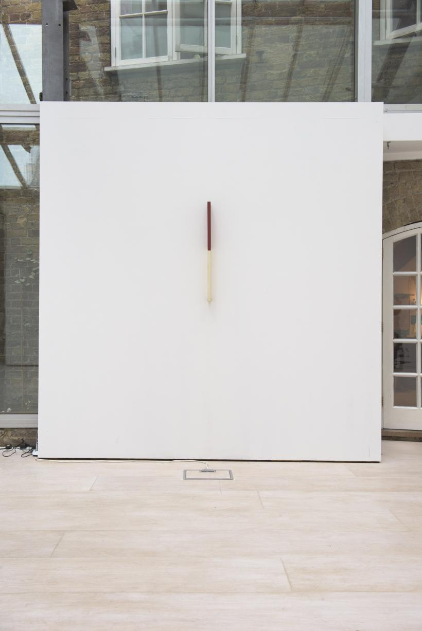 Willys de Castro, Active Object (Objeto Ativo) 1961, canvas over wood, installation view