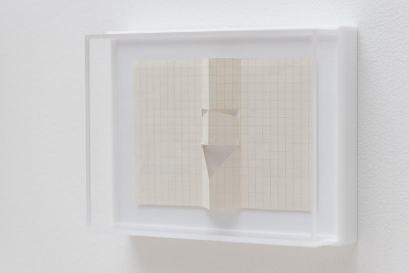 Willys de Castro, Untitled, 1950s, graph paper cut and folded, installation view