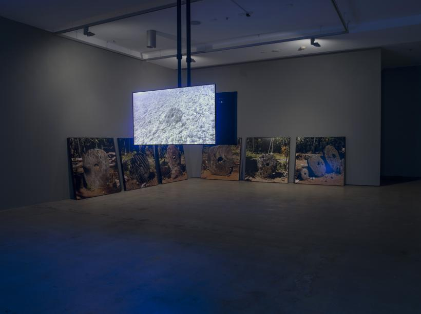 Nicholas Mangan, Limits to Growth, 2016. Installation view, Institute of Modern Art. Photograph by Carl Warner.
