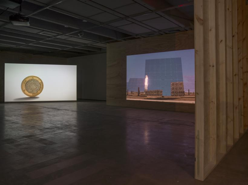 Nicholas Mangan, Ancient Lights, 2015. Installation view, Institute of Modern Art. Photograph by Carl Warner.