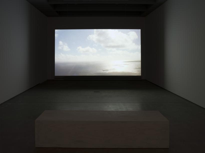 Nicholas Mangan, Nauru – Notes from a Cretaceous World, 2010. Installation view, Institute of Modern Art. Photograph by Carl Warner.