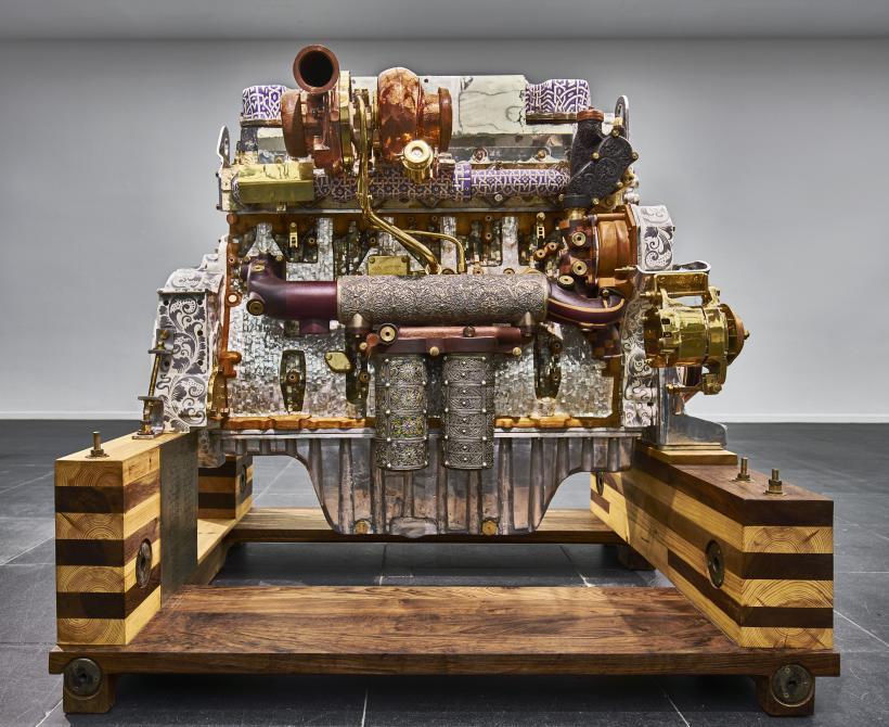 D9T (Rachel's Tribute), 2015, installation view at Frankfurter Kunstverein, 2016.