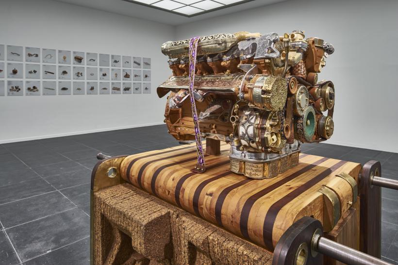 V12 Laraki, 2013, installation view at  Frankfurter Kunstverein, 2016.
