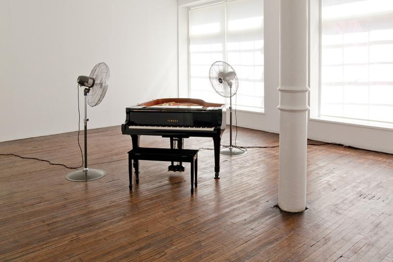 Roman Signer Piano installation view 2010