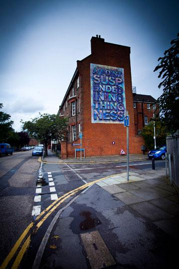 Mark Titchner, A Point of Suspended Nothingness Sited at Old Police Station 2