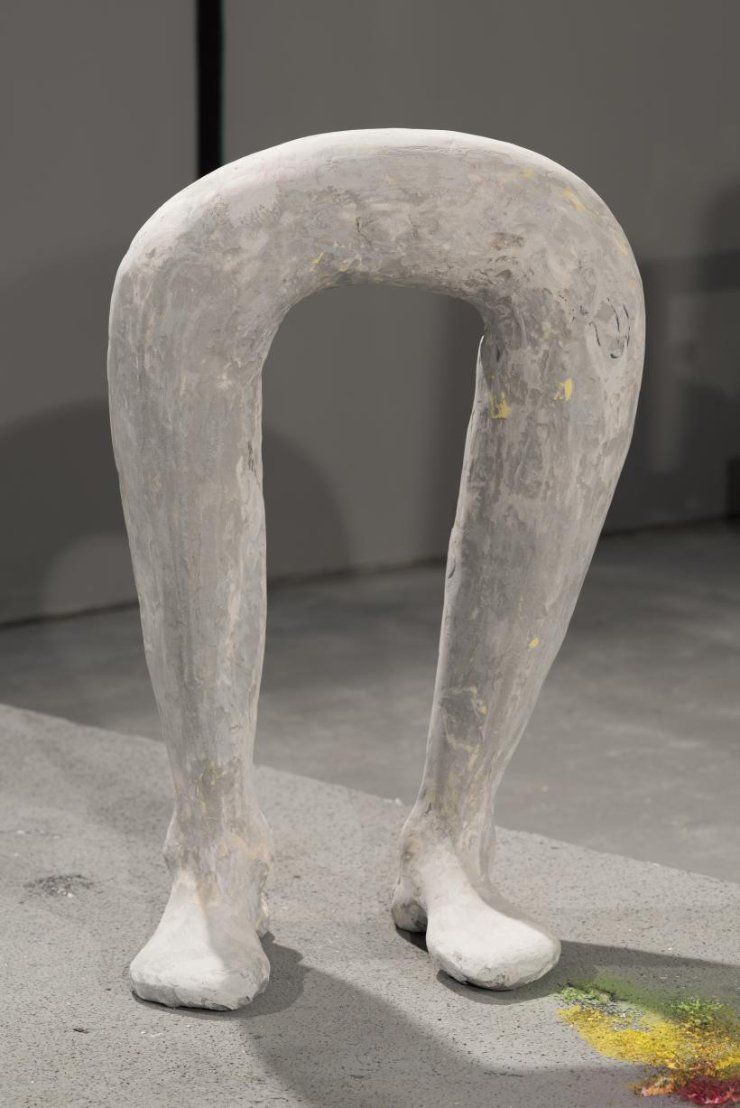 Joined legs P's Feet, 2015, jesmonite, dimensions variable