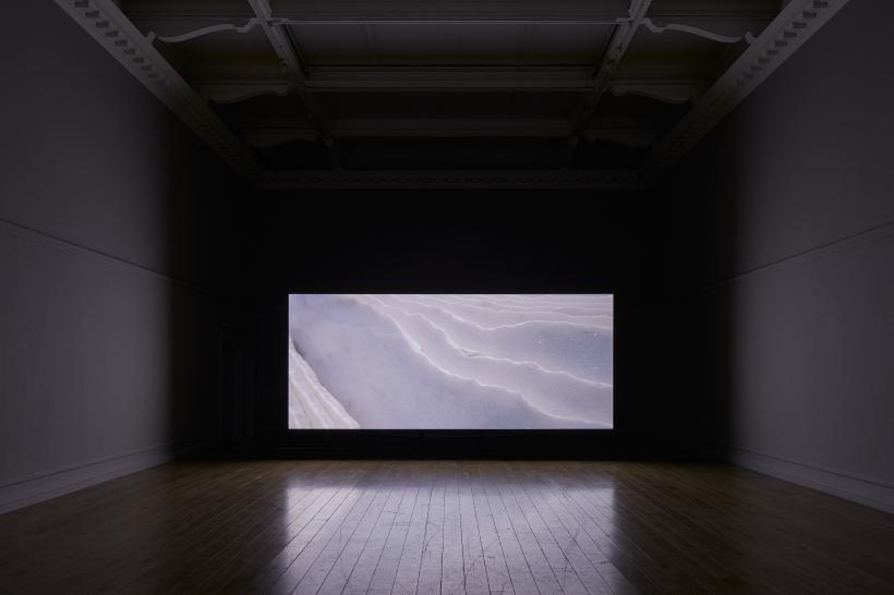 Amie Siegel, Quarry, 2015. HD video, colour and sound. Exhibition view South London Gallery, 2017