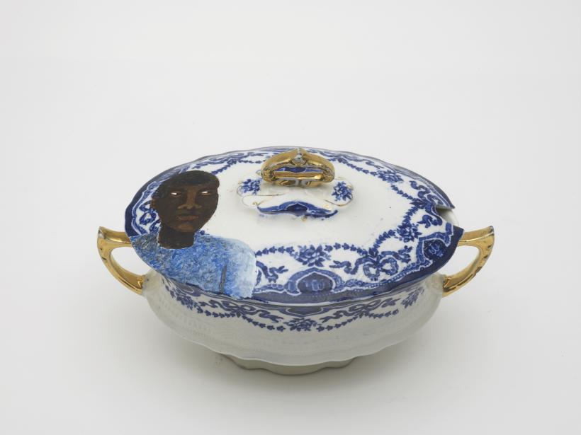 Lubaina	Himid, Swallow Hard: The Lancaster Dinner Service (detail), 2007