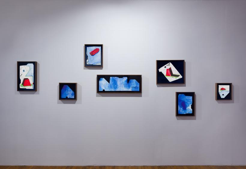 Danielle Dean: a shoe, a phone, a castle, installation view at Commonwealth & Council, 2017