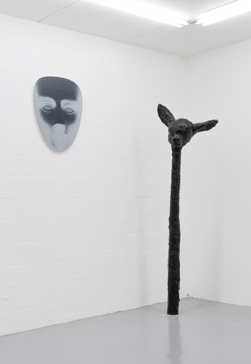Amanda Ross-Ho, THE UNSUB INVERTED (DIRECT ABOVE), 2014; John Russell, Deer, 2016