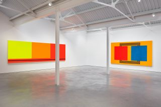 Peter Halley, Paintings from the 1980s, exhibition view, Modern Art.