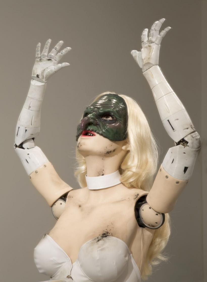 Jordan Wolfson, Female Figure 2014, Mixed media. Courtesy the artist and David Zwirner, New York. Photo: Jonathan Smith