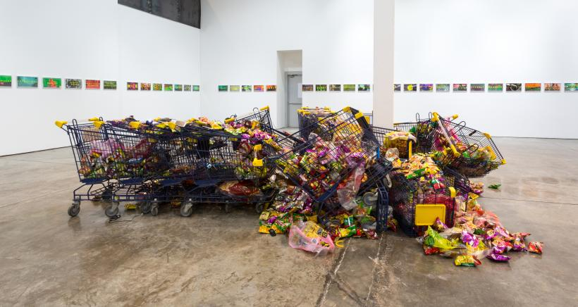 Sophia Al-Maria EVERYTHING MUST GO, installation view at The Third Line, Dubai 2017. Courtesy the artist and The Third Line.
