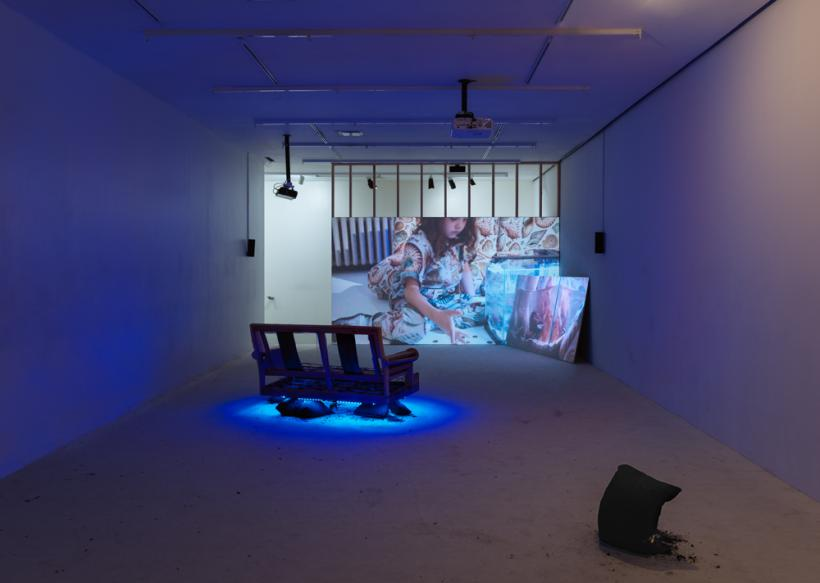 A.K. Burns: Shabby but Thriving, installation view at New Museum, New York, 2017