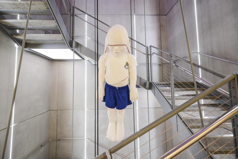Installation view of Ajay Kurian, Childermass, 2017. Whitney Biennial 2017, Whitney Museum of American Art