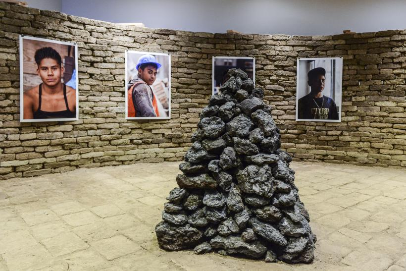 Installation view of Rafa Esparza, Figure Ground: Beyond the White Field, 2017. Whitney Biennial 2017, Whitney Museum of American Art