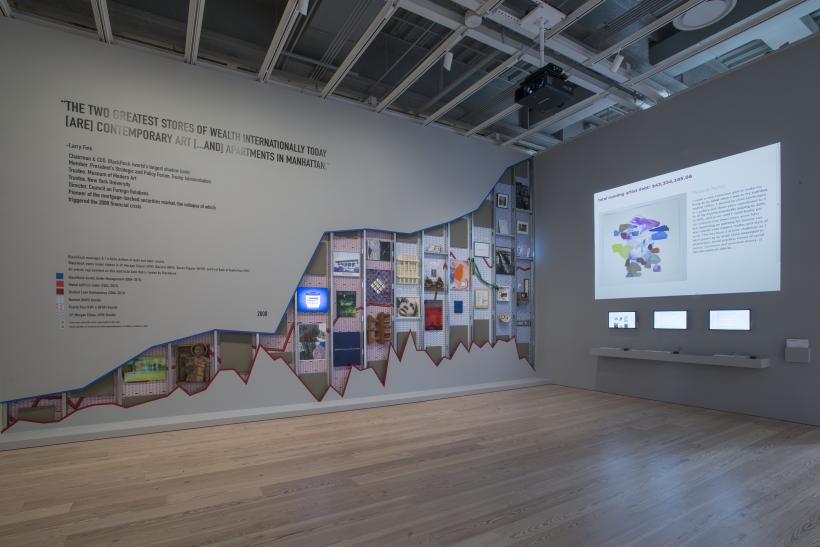 Installation Occupy Museums,  Debtfair, 2017  ( 2017 Whitney Biennial, March 17—June 11, 2017).  Thirty artworks and interactive website.  Whitney Museum of American Art