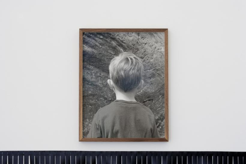 Marion Coutts, Boy Looks At Rock on Top of Another Rock (installation view), 2017. Archival pigment print, Edition of 10 + 1 AP, 44 x 34.5 cm