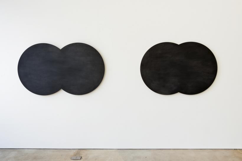 Marion Coutts, The Middle Distance, 2007. Wood, paint, chalk, 91 x 342 cm