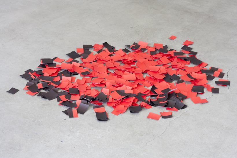 Marion Coutts, Small Fire (After Gonzales Torres), 2017. Paper, Dimensions variable